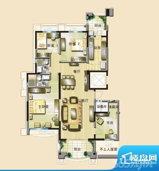 碧桂园城市花园紫薰园9幢4室2厅2卫167㎡整租精装