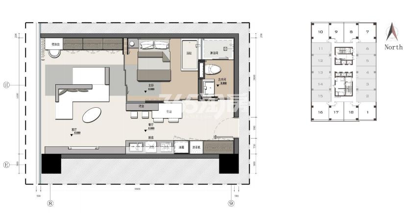 兰基国际公寓户型图