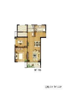新江北孔雀城3室2厅1卫100平米2017年产权房精装