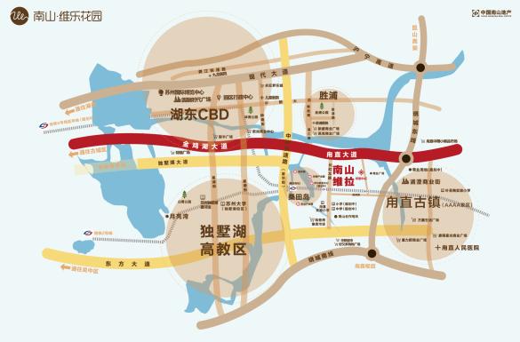 南山维拉交通图