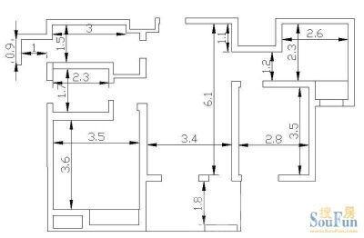 园区亿城新天地II沙发社区3室2厅1卫89㎡