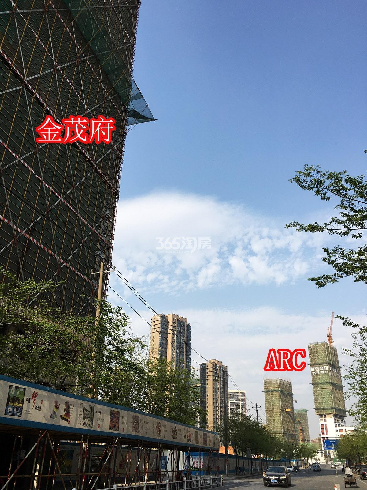 2018年4月初融信公馆ARC及周边首开杭州金茂府合影