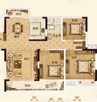 北京城建・金城华府3室2厅2卫115平米毛坯产权房