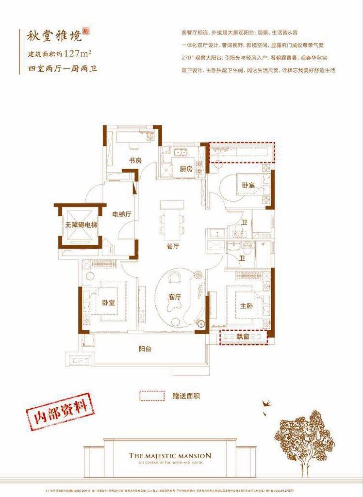 碧桂园中堂127㎡户型图