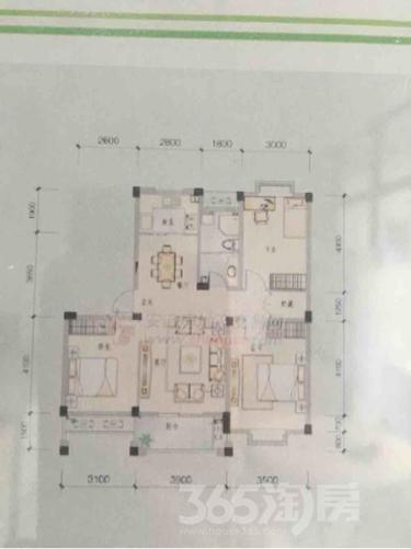 金都檀宫3室2厅1卫98.43平米