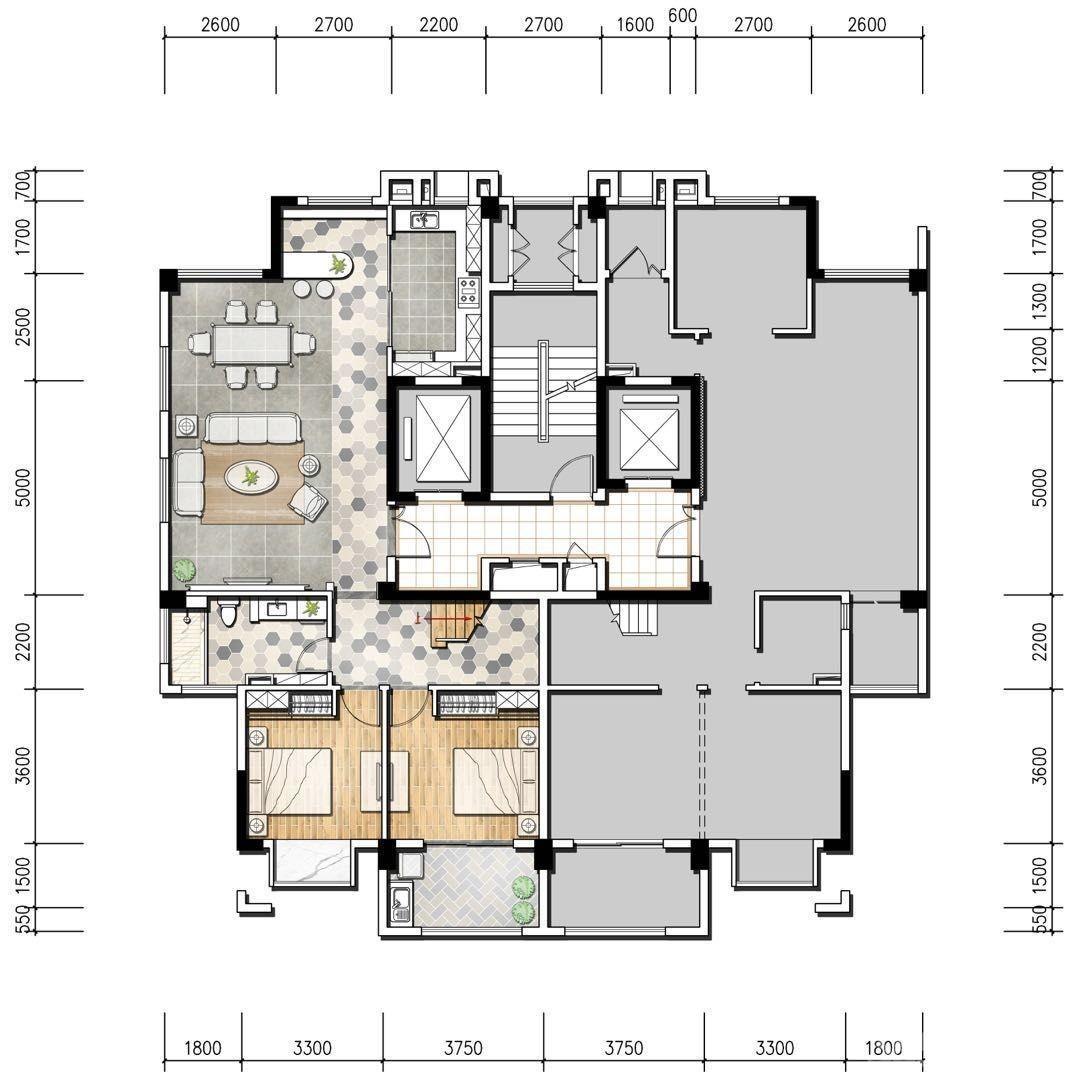新湖仙林翠谷5室2厅3卫220.6平米2017年产权房毛坯