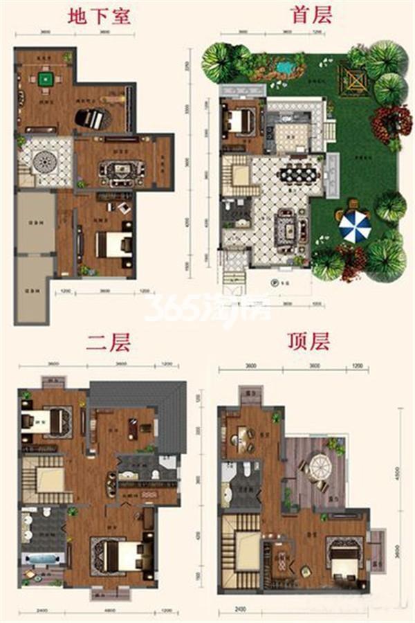 别墅A2户型 7室1厅1厨4卫