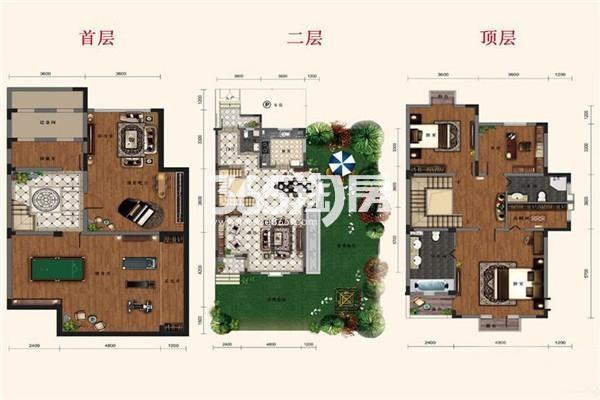 别墅B2户型 5室2厅1厨3卫