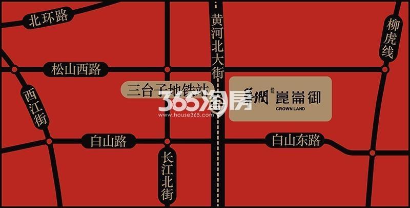 华润崑崙御交通图