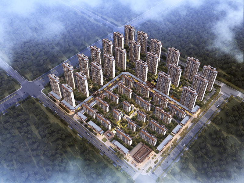 绿地新里城鸟瞰图