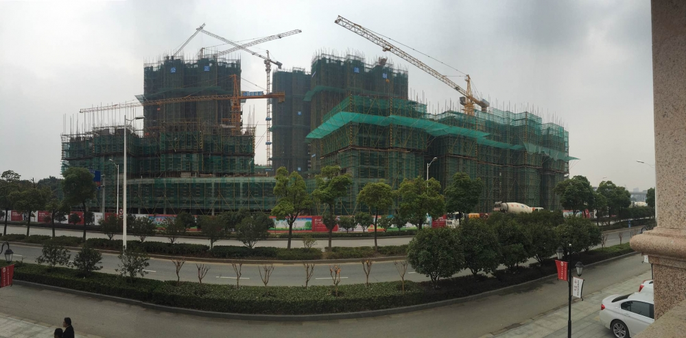 太平洋城中城施工进度实景