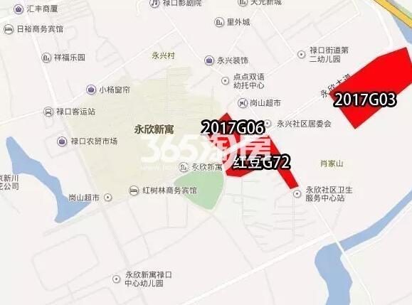 红豆香江华府交通图