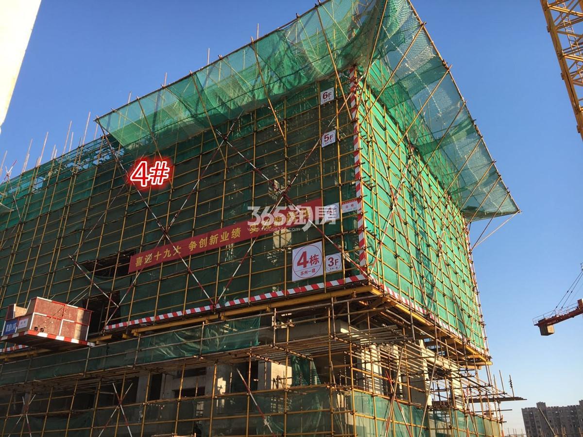 江山薈4号楼实景图(11.15)