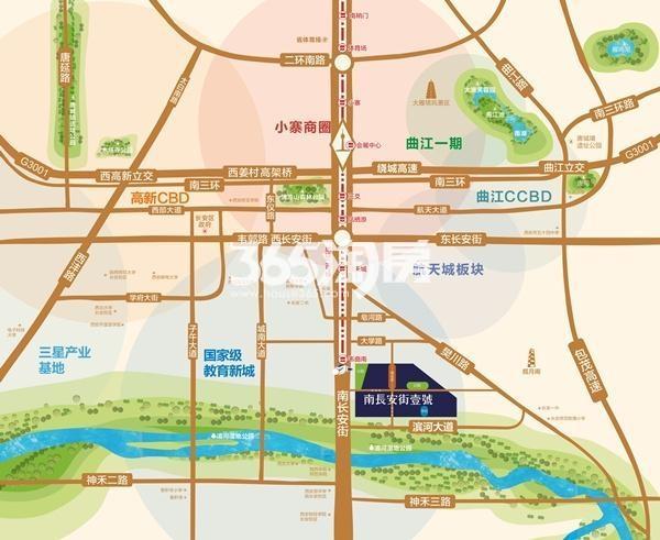 南长安街壹号交通图