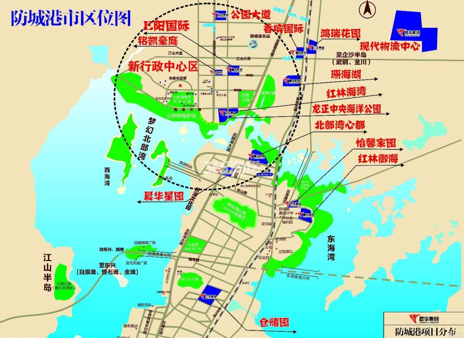 晨华星园交通图
