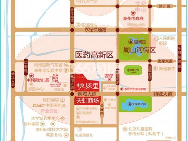 世纪家园·桃源里交通图