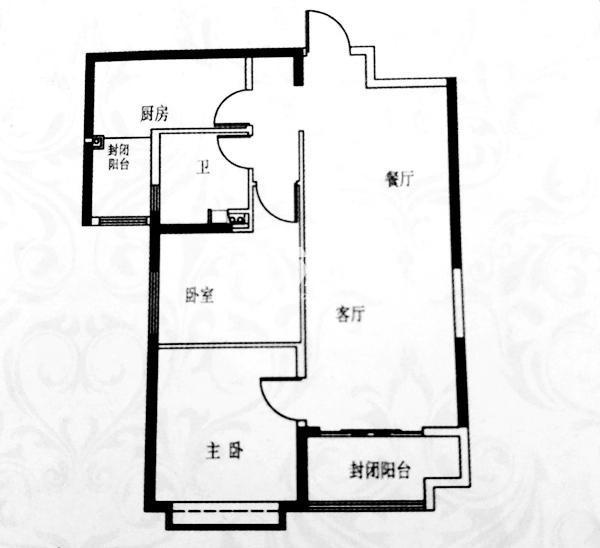 两室两厅一卫 建筑面积约98.15㎡