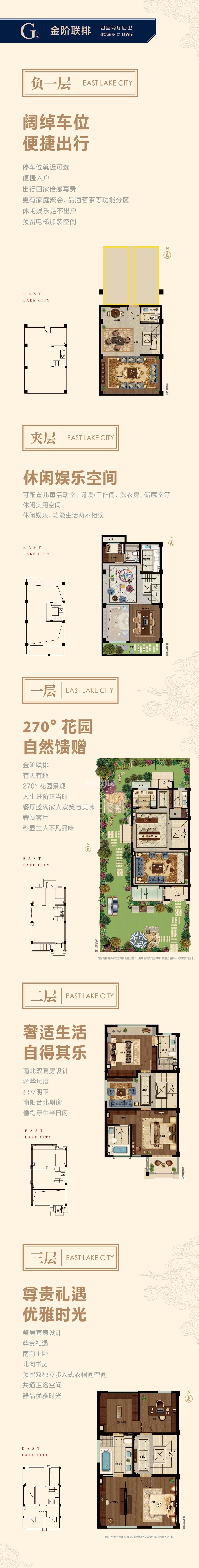 旭辉宝龙东湖城联排G户型169方(1-25#)