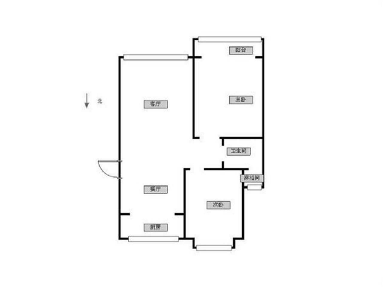 鼓楼区福建路金阜雅苑2室1厅户型图