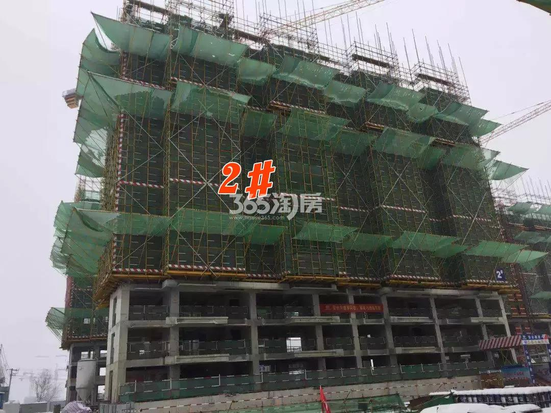 公元天下2#十三层墙柱模板完成实景图(2018.2.23)