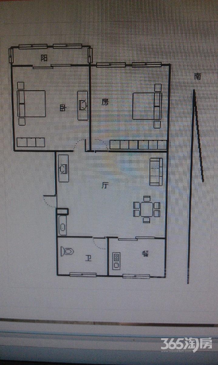 樱陀花园樱海公寓2室1厅1卫80平方产权房精装