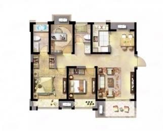 绿地璀璨天城3室2厅2卫115平米毛坯整租