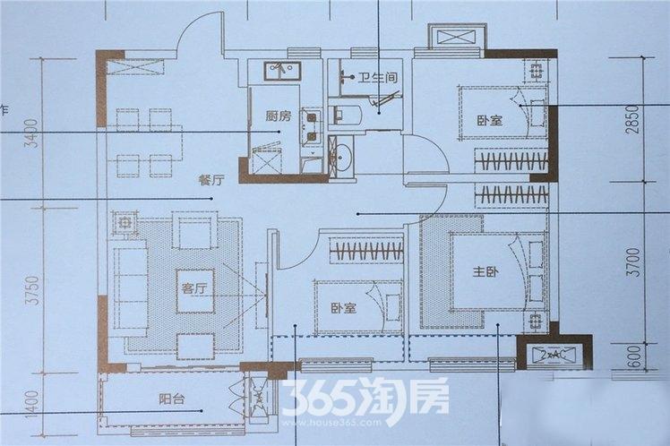 新滨湖孔雀城高层A1户型