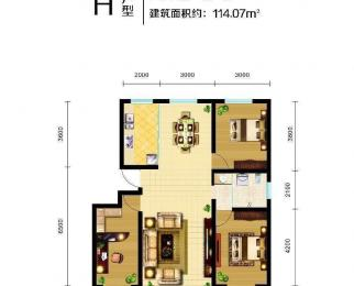 彩虹心筑2室2厅1卫89平米2014年使用权房毛坯
