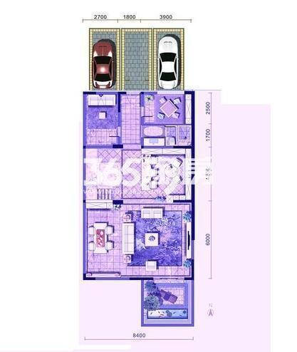 金地九玺世席户型负一层4室3厅4卫1厨449.00㎡