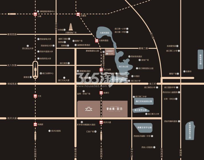碧桂园云顶交通图