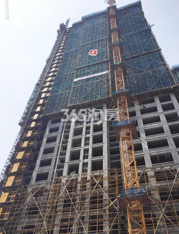 中国铁建西湖国际城4号楼施工进程(2018.8)