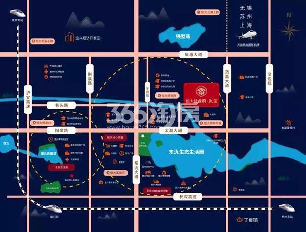 恒大珺睿府氿玺交通图