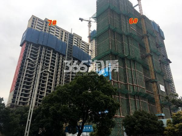 世茂时光里6#、7#楼超高层工程进度实景图(2017.12摄)