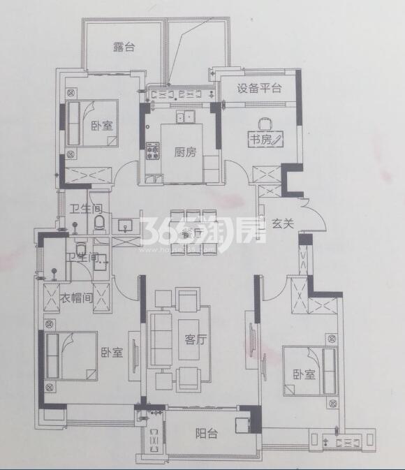 c-3 4室2厅2卫 133㎡