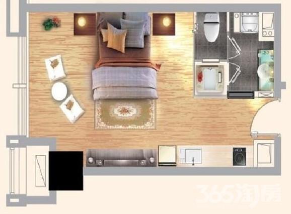 整租 武里山天街 一室一厅 精装修 家电齐全 有钥匙 随时看房