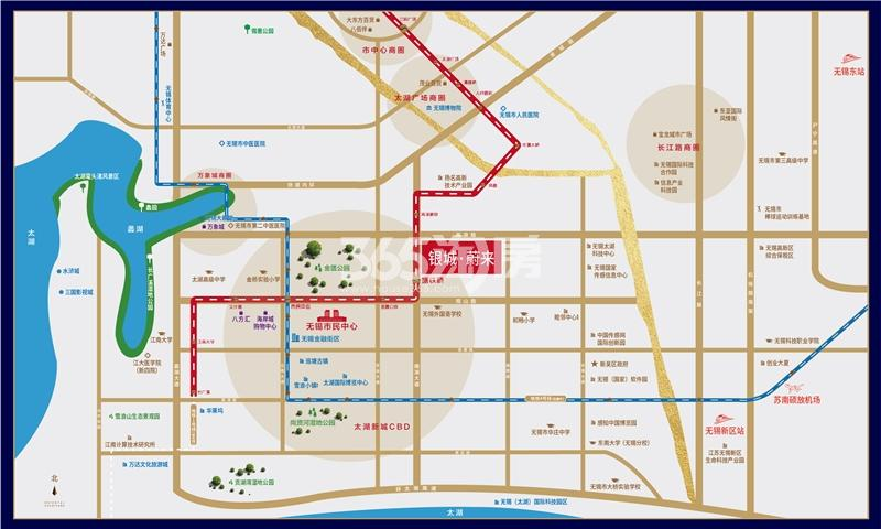 银城蔚来交通图