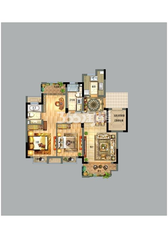 宝龙世家C区90平户型图