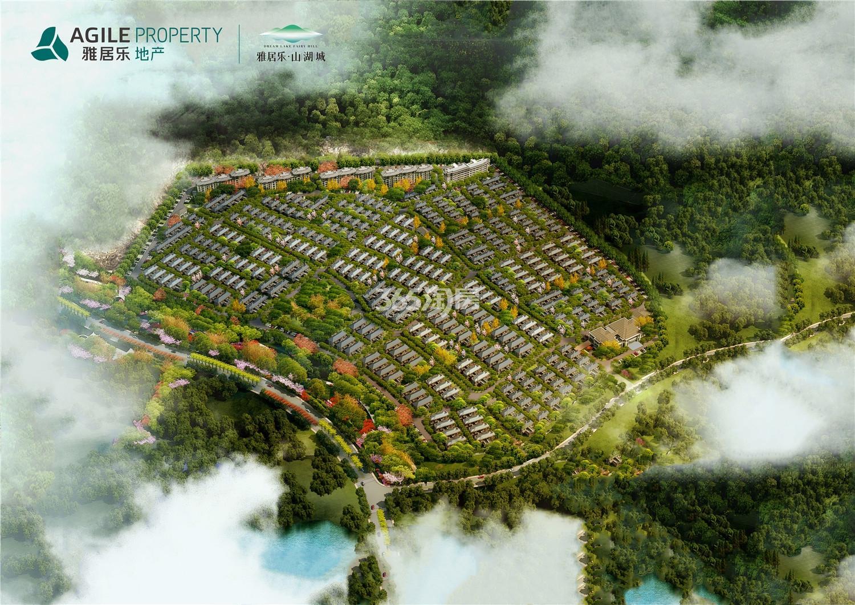 雅居乐山湖城鸟瞰图