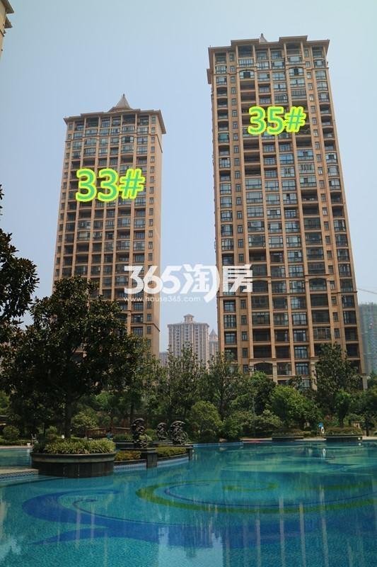 雅居乐滨江国际室外泳池实景图(9.13)