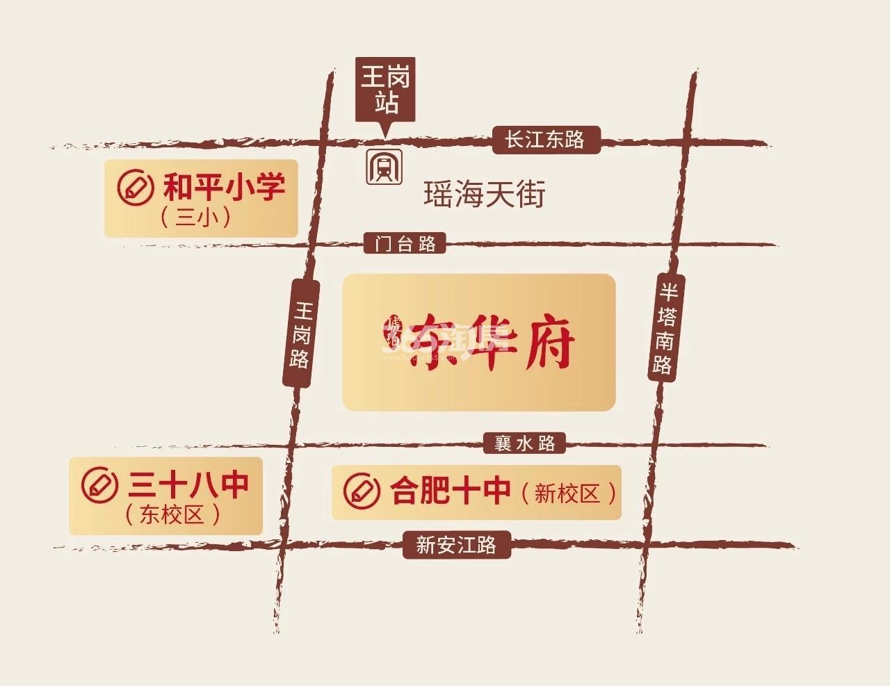 城建琥珀东华府交通图