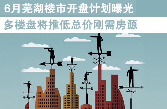6月芜湖楼市开盘计划曝光 多个楼盘将推出低总价刚需房源