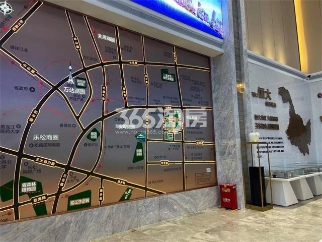 恒大时代广场交通图