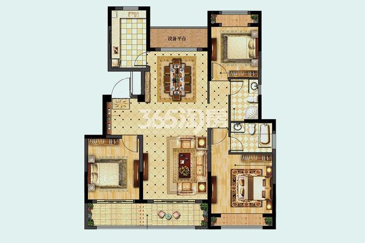 C户型居室115.00㎡