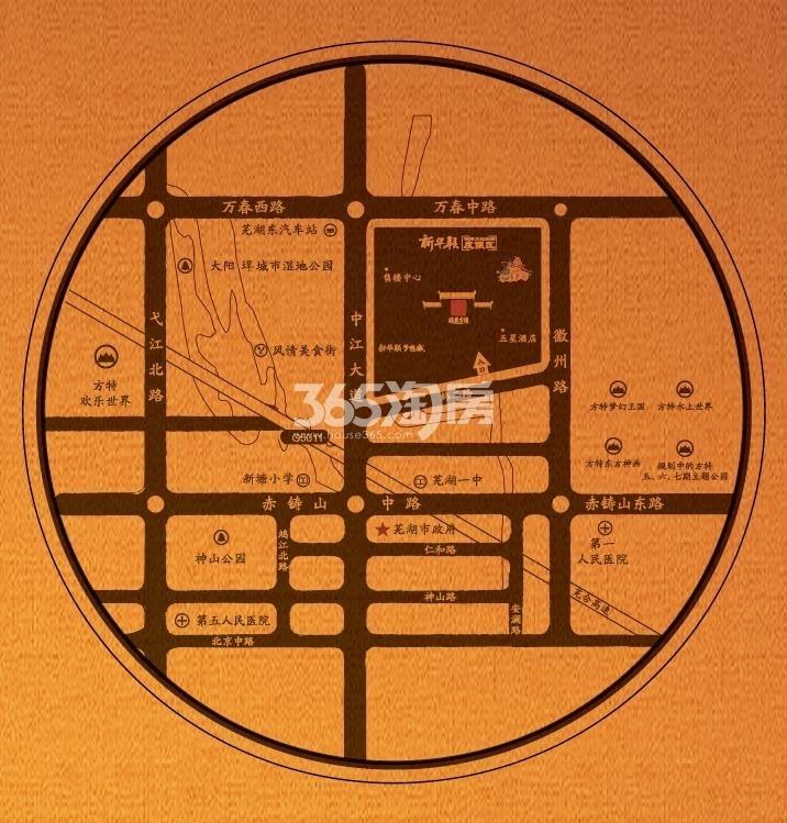 鸠兹古镇西江月交通图