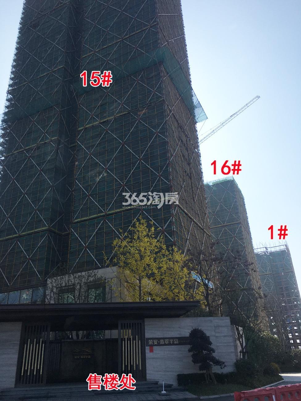 2018年2月底荣安翡翠半岛高层1、15、16号楼实景
