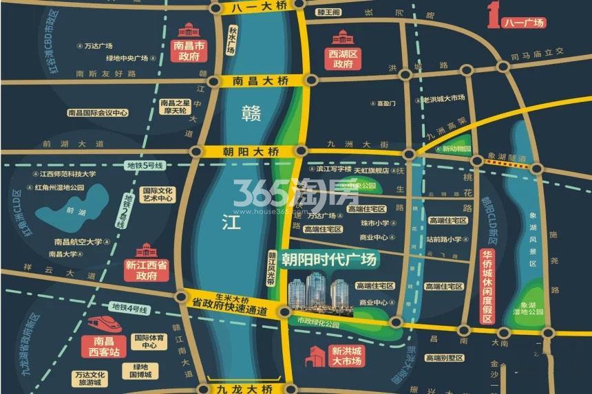 朝阳时代广场交通图