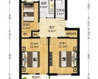 新房源有钥匙 南部新城 洪家园 双桥新村3房 双南双阳台 满五唯一