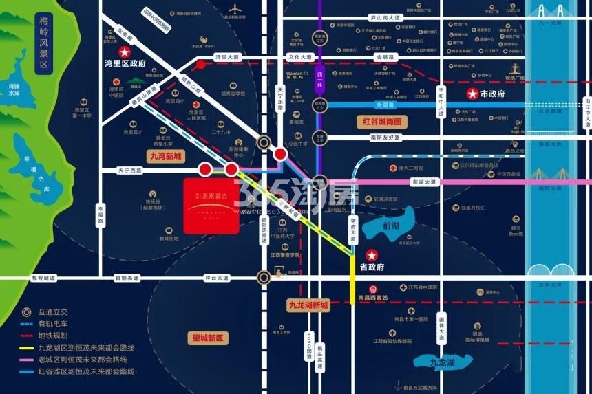 恒茂未来都会交通图