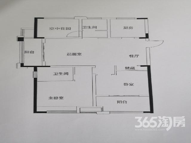 保利公园九里3室2厅2卫110㎡2018年产权房毛坯