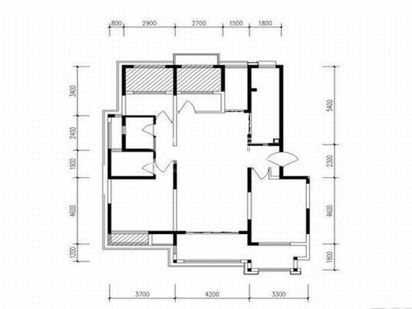 枫林九溪4室2厅2卫1厨126平户型图